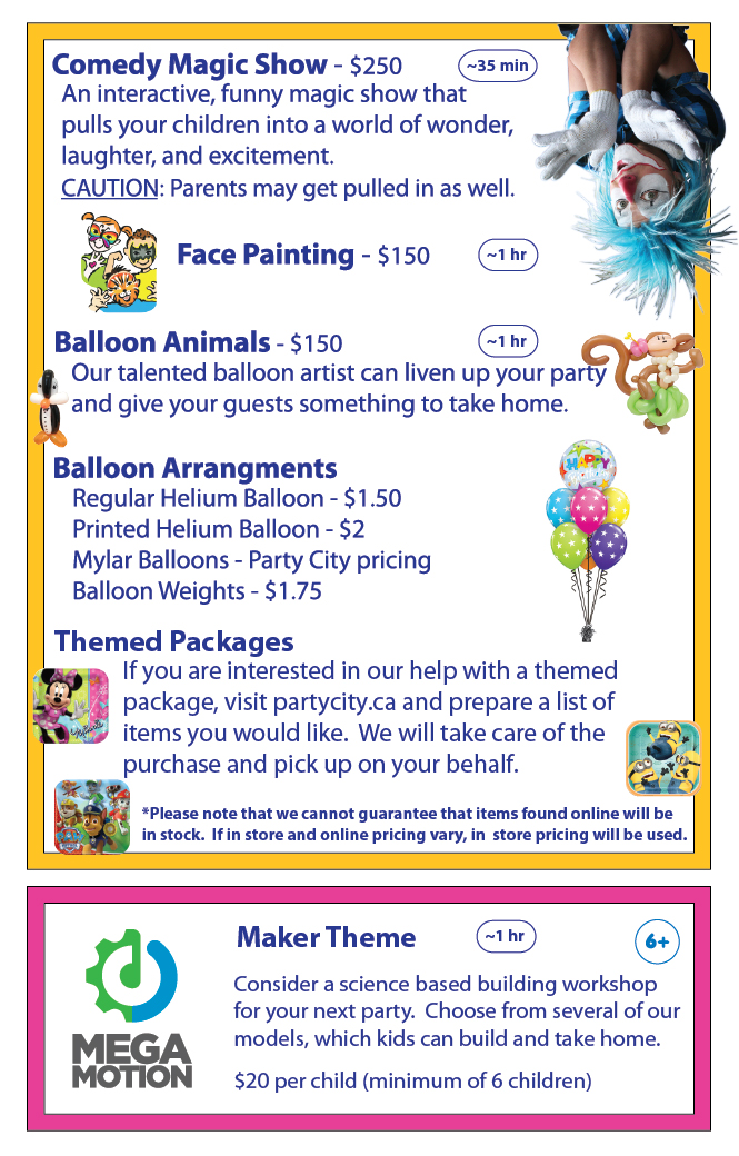 Extras Toronto Indoor Playground Birthday Party Rooms And - Childrens birthday parties north york